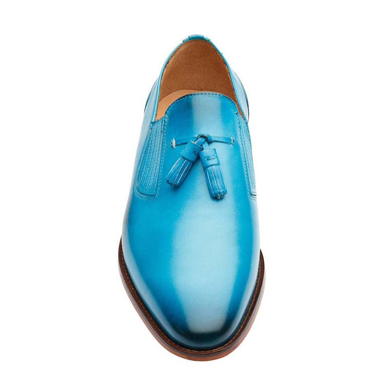Blue Lazyman Tassel Loafers