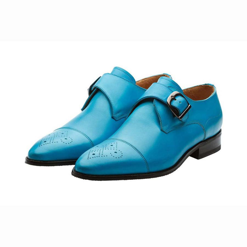 Blue Single Monk Strap