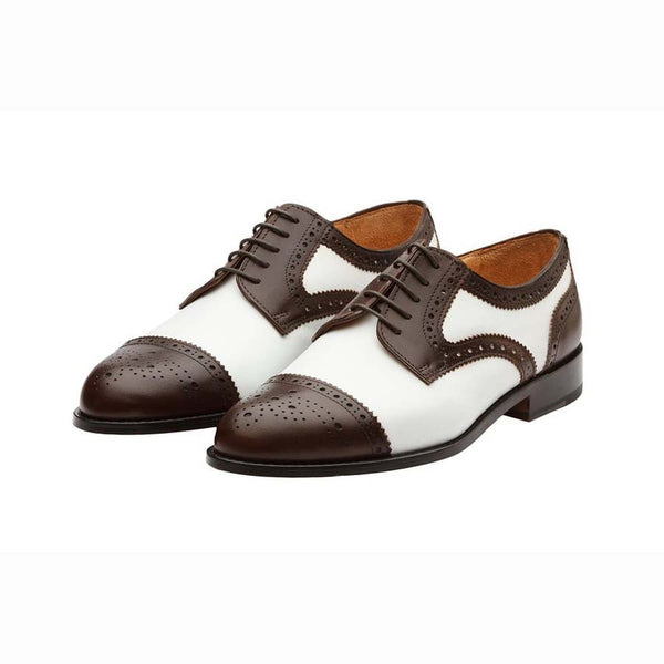 Brown + White Spectator Captoes