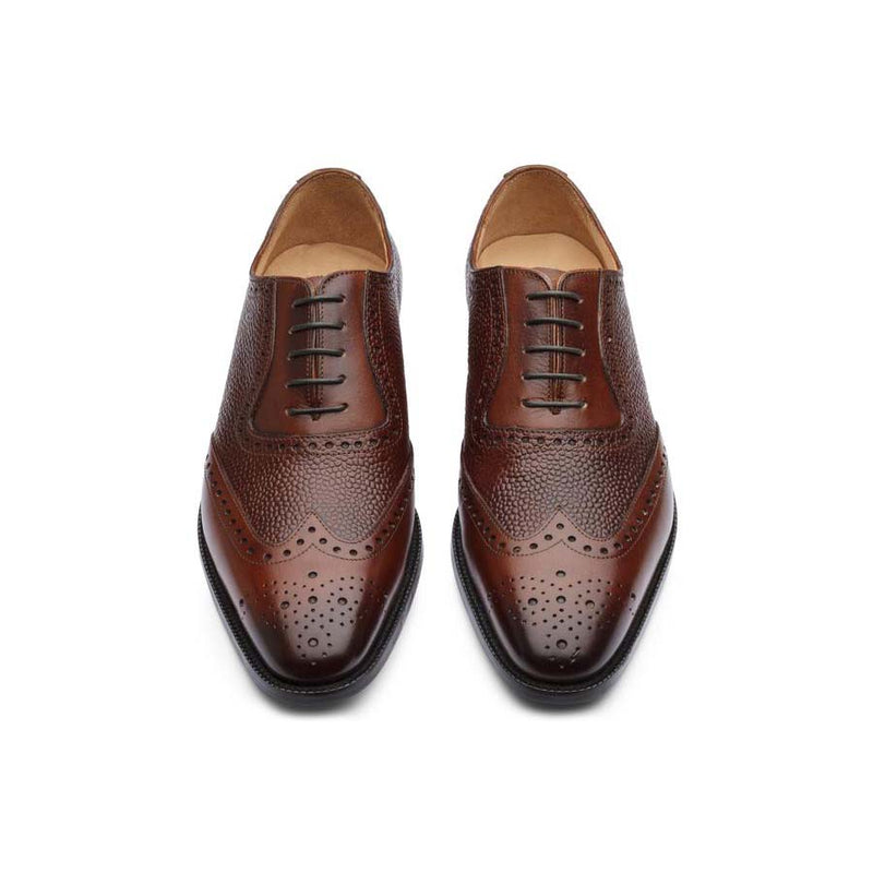 Brown Brogues with Pebble Grain Detail