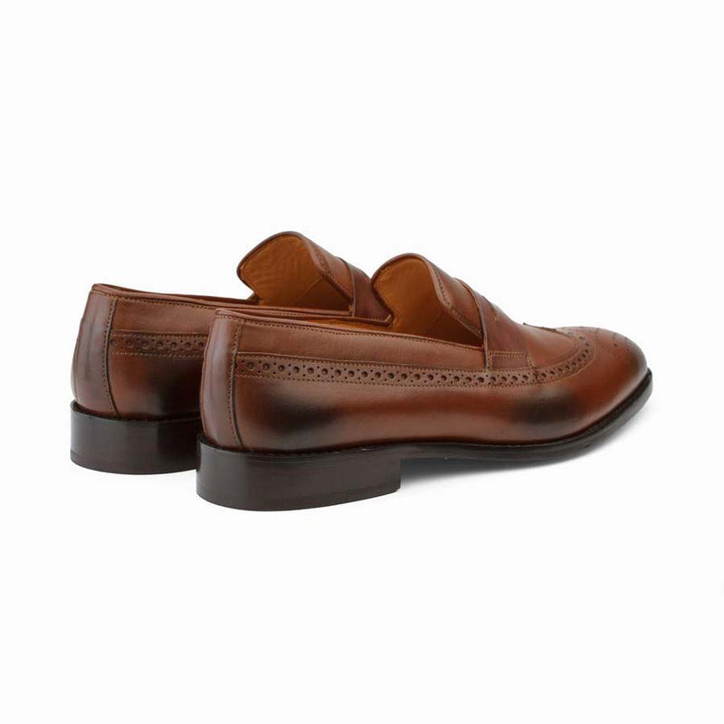 Brown Longwing Penny Loafers
