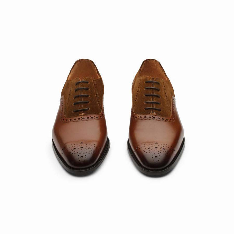 Brown Oxfords With Tan Suede