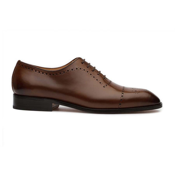 Brown Punched Medallion Oxfords