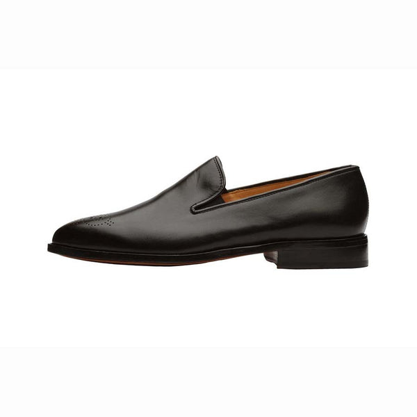 Black Classic Medallion Loafers