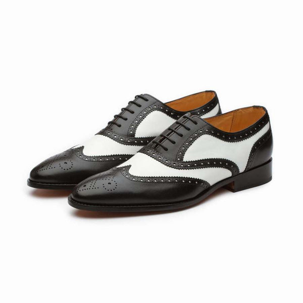 Black + White Spectator Wingtips