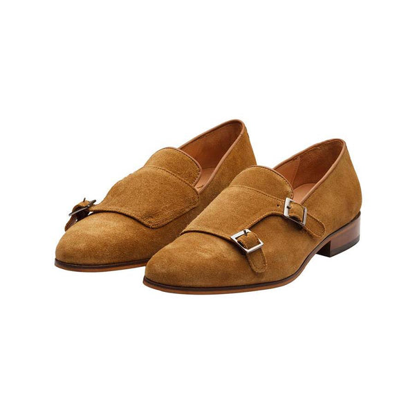 Camel Suede Monk Slipon