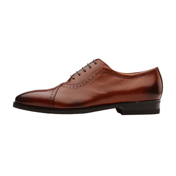 Cognac Assymetrical Oxford