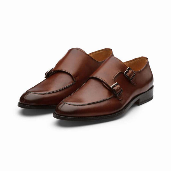 Cognac Split Toe Double Monks