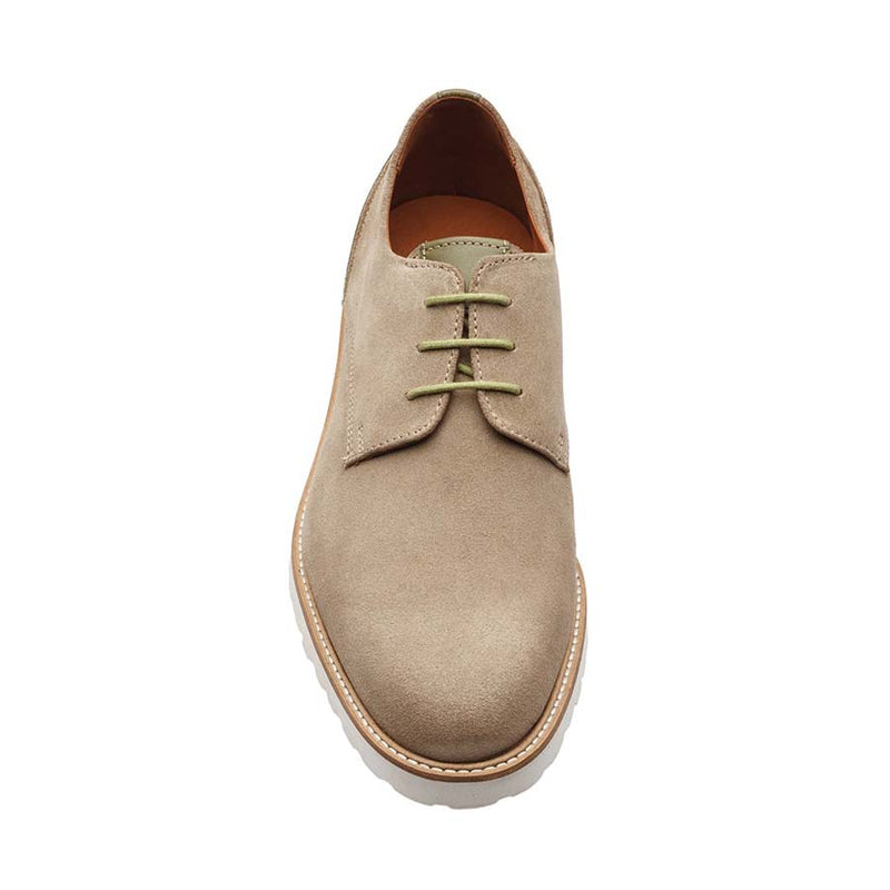 Cream Suede + Olive Combination derby