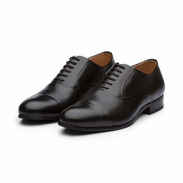 Black Classic Toecap Derby Oxfords