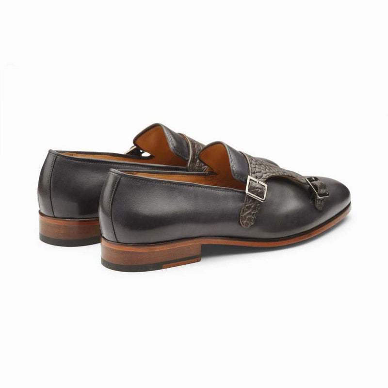 Grey Croco Monk Slipon