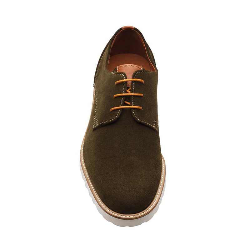 Khaki Suede + Tan Combination Casual derby