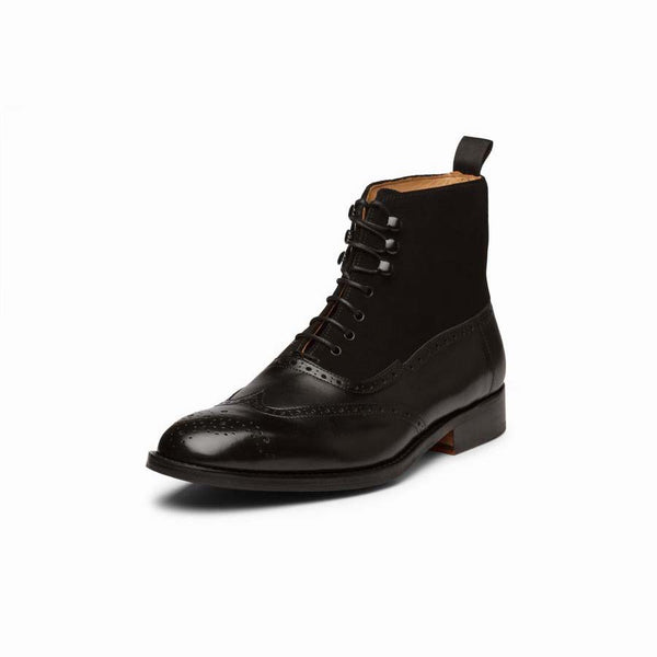 Black Combination  Boots