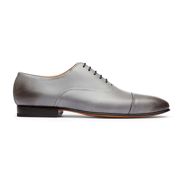 Light Grey Sleek Captoe Oxfords