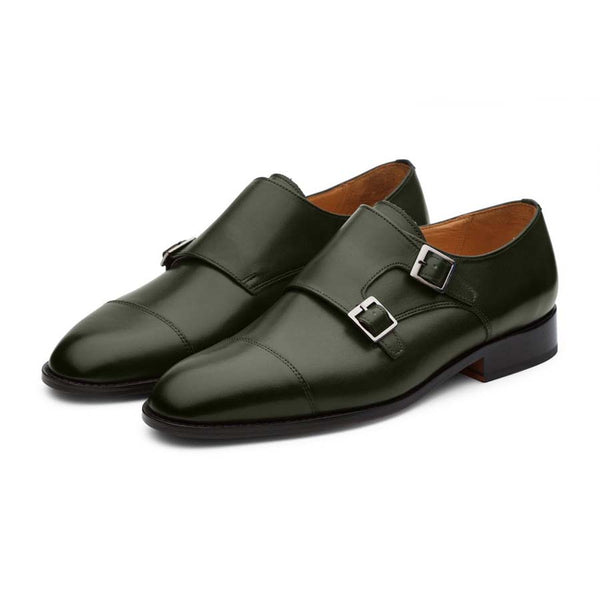 Loden Monk Straps with Captoe
