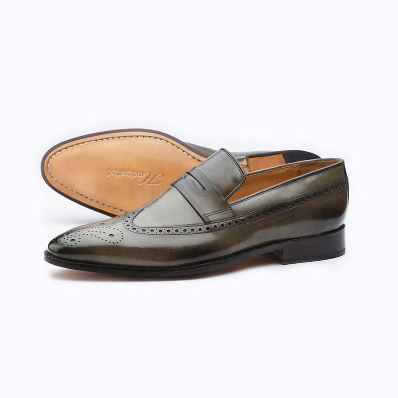 Loden Wingtip Penny Loafer