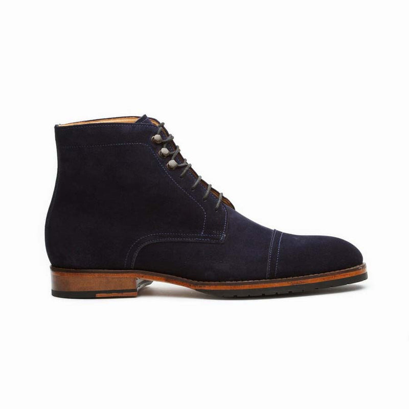 Navy Suede Boots