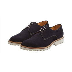 Navy Suede Casual Derbies
