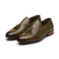 Olive Medallion Tassel Loafer