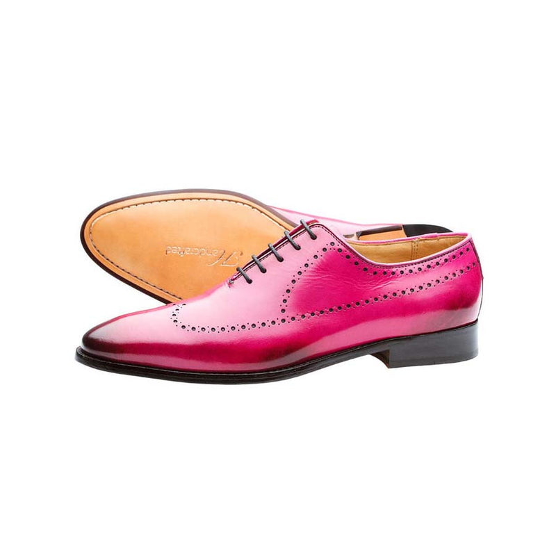 Pink Longwing Punched Oxfords