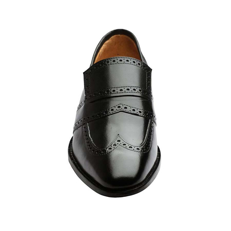 Punched Wingtip Penny Loafer