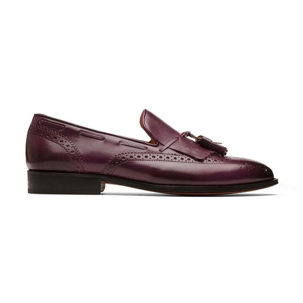 Purple Kiltie Tassel Loafers
