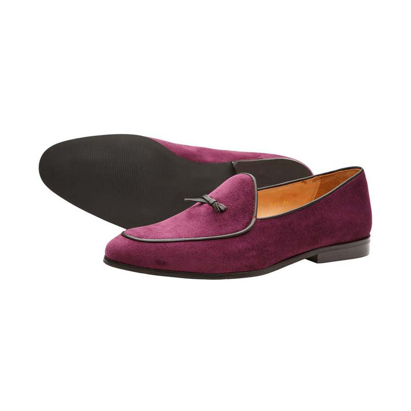 Purple Velvet Belian Bowtie Loafers