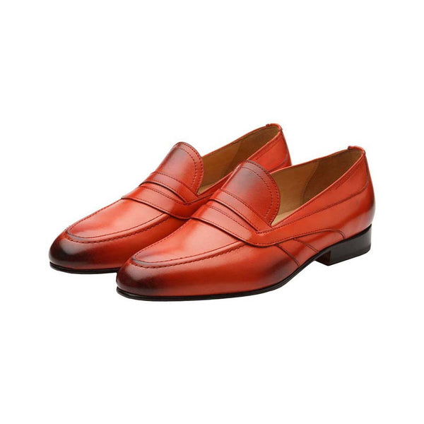 Red Saddle Loafers