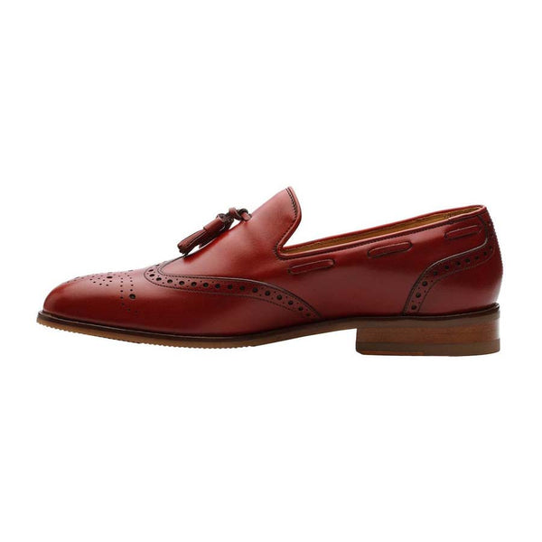 Red Wingtip Tassel Loafer