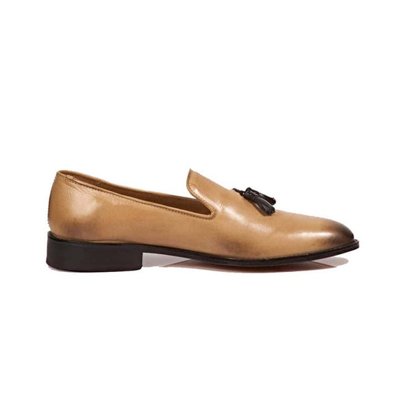 Sand Tassel Loafers