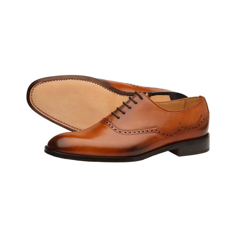 Tan Assymentrical Oxfords