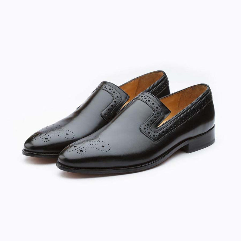 Black Decorated Loafer