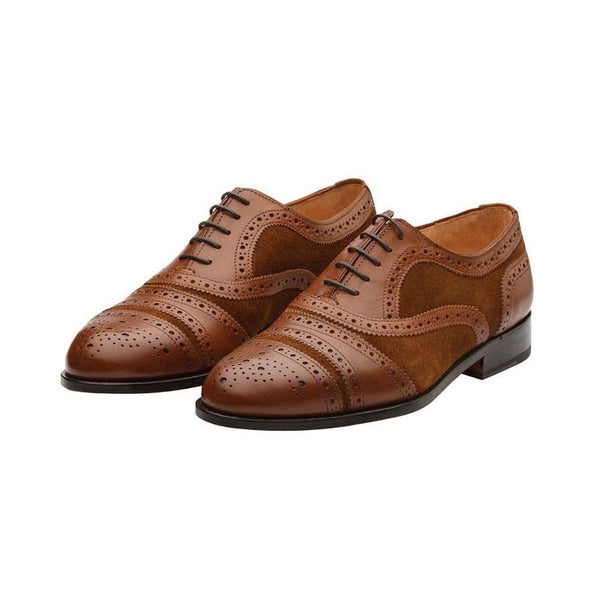 Tan Combination Gladiator Oxfords