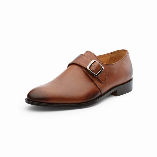 Tan Cross Strap Monks