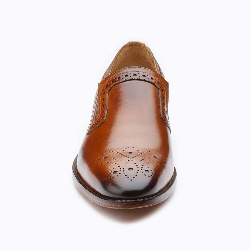 Tan decorated Loafer