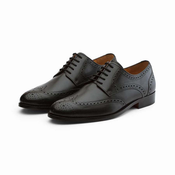 Black Derby Wingtip