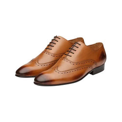 Tan Diamond cut Oxfords