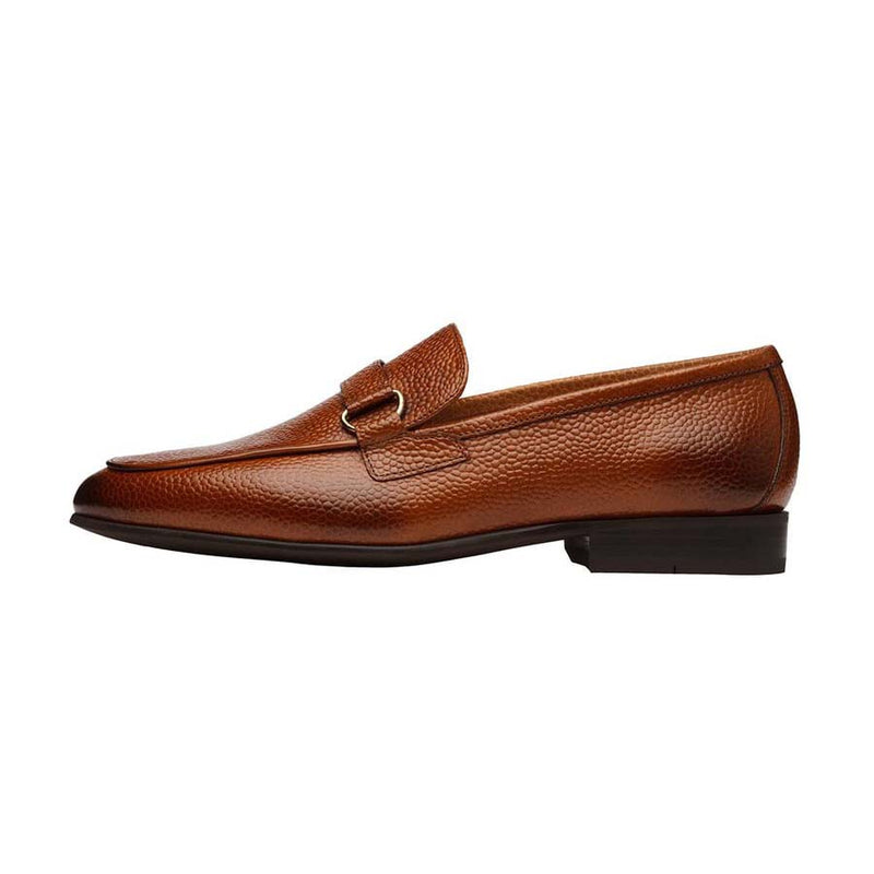 Tan Grain Buckle Loafer