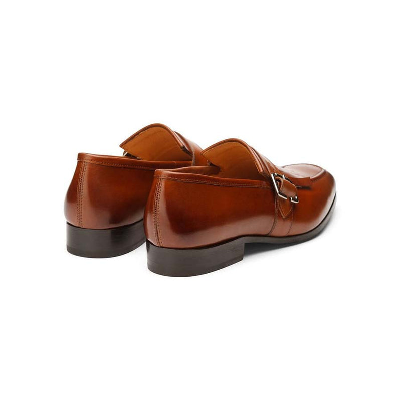 Tan Kiltie Strap Loafers