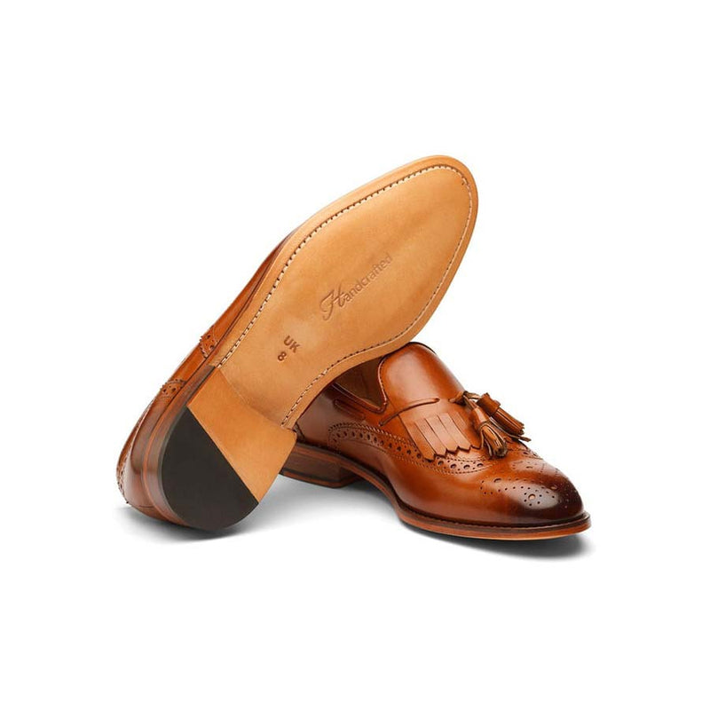 Tan Kiltie Tassel Loafer