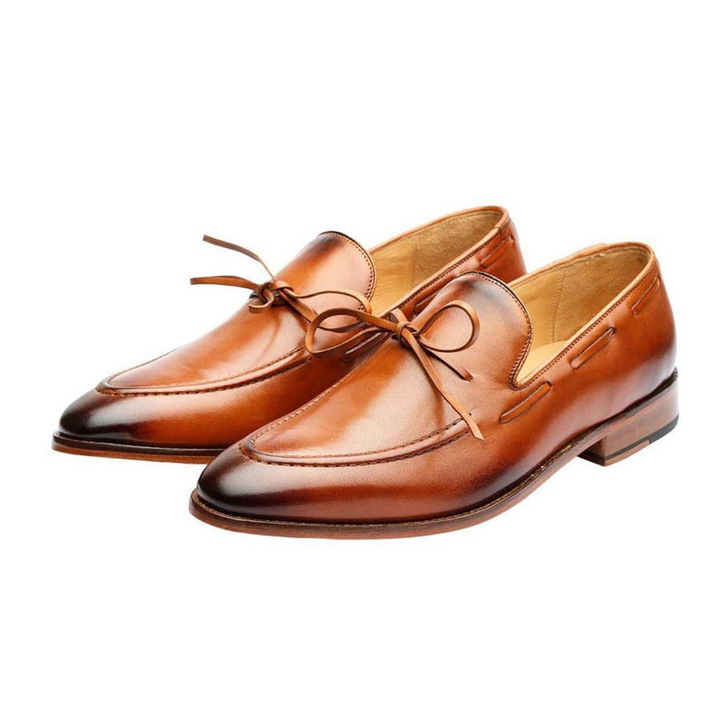 Tan Knot Loafers