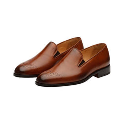 Tan Medallion Classic Loafer