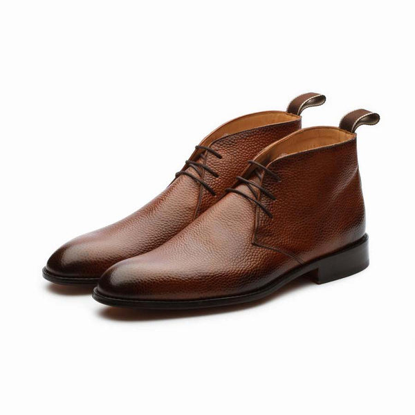 Tan pebble Grain Chukka Boot