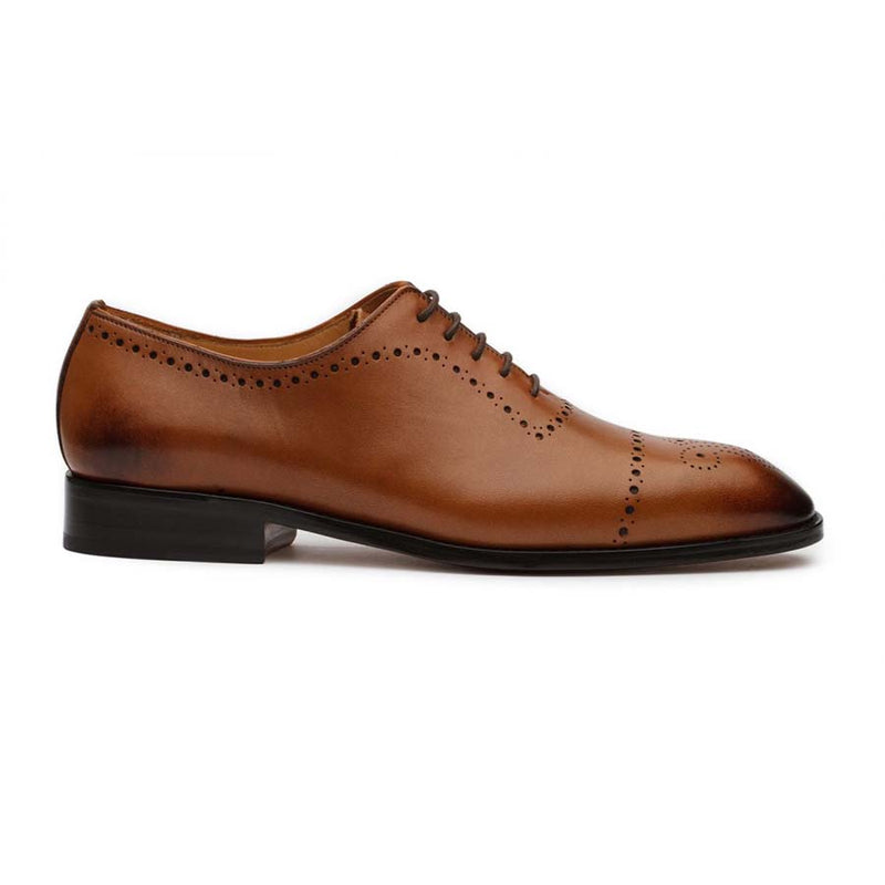 Tan Punched Medallion Oxfords