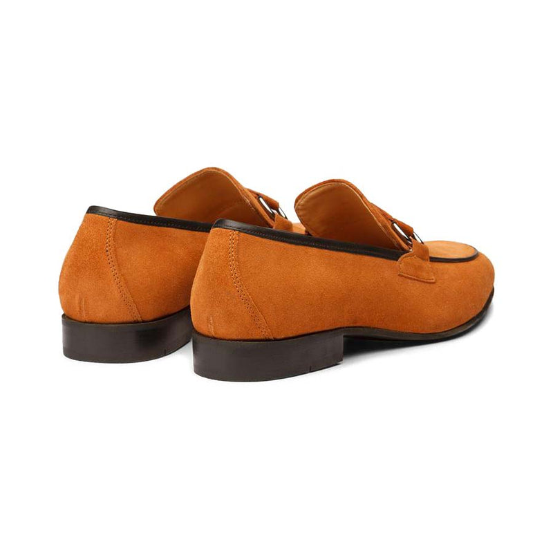Tan Suede Buckle Loafer