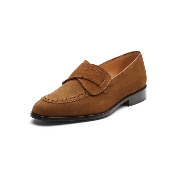 Tan Suede Butterfly Loafers