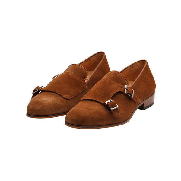 Tan Suede Monk Slipon