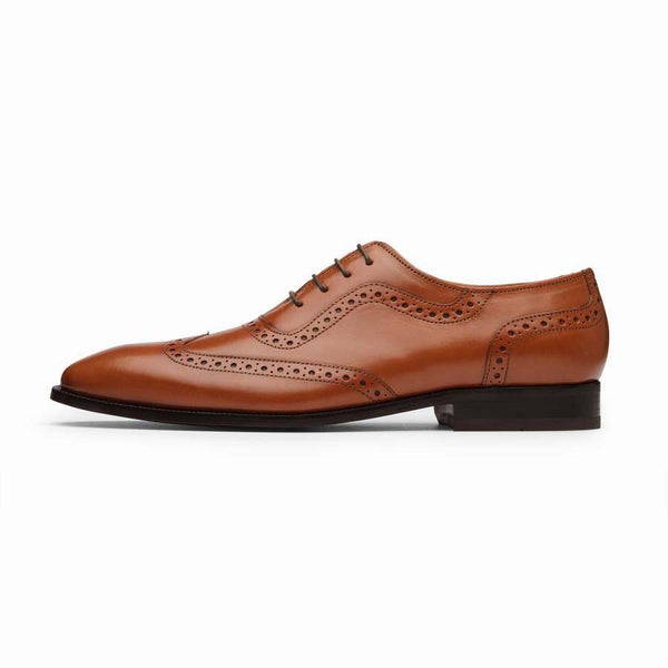 Tan Wave pattern Wingtips