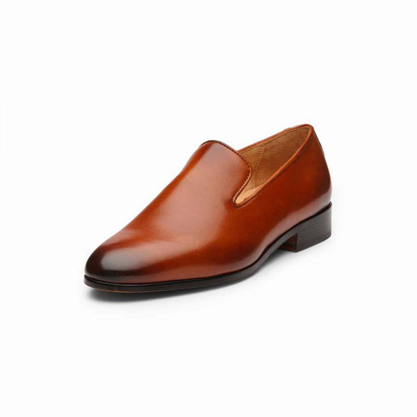 Tan Wholecut Loafers