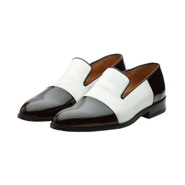 White + Black combination Spectator Loafers